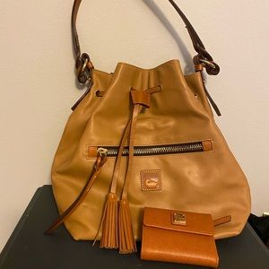 Dooney & Bourke Drawstring purse and wallet set